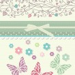 Beautiful baby vintage greeting card — Stock Vector
