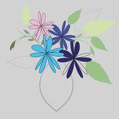 Sfondo fiore vettoriale — Vettoriale Stock