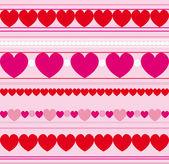 Liefde naadloze achtergrond — Stockvector