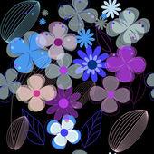 Vector flower seamless background — ストックベクタ