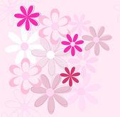 Vector flower background — Stock Vector