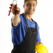 Enthusiastic worker — Stock Photo