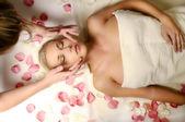 Woman on massage — Stock Photo