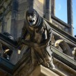 A gargoyle on the Cathedral. Vitus — Stock Photo