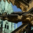 A gargoyle on the Cathedral - Stock Photo