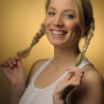 Pretty blond girl — Stock Photo