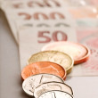 Coins and Banknotes — Foto Stock