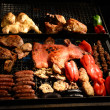 Stock Photo: BBQ in Montevideo in Uruguay