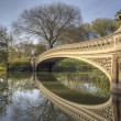 Stock Photo: Bow bridge in spring Central Park