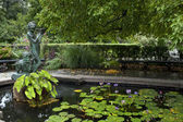 Central Park conservatory gardens — Stock Photo
