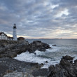 Lighthouse in Maine - Stock Photo