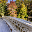 Bow bridge autumn — Stock Photo