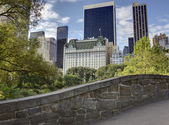Gapstow bridge Central Park, New York City — Stok fotoğraf