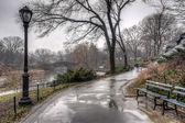 Central Park, New York City after rain storm — Stockfoto