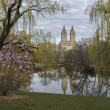 Stock Photo: Central Park, New York City at lake