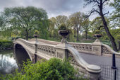 Central Park, New York City Bow bridge — Stock Photo