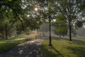Central Park sunrise — Stock Photo