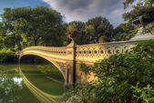Central Park, New York City now bridge — Stockfoto
