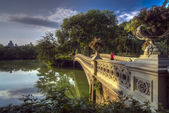 Central Park, New York City now bridge — 图库照片