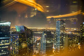 At night New York City Manhattan — Foto Stock