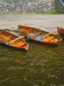 Rowing Boats at the Lakeside — Stock Photo