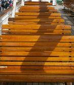Ferry Benches await Passengers — Stock Photo