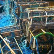 Stock Photo: Crab Baskets on Harbour Edge