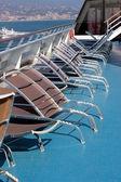 Sun chairs — Stock Photo