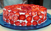 A strawberries cake — Stock Photo