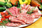 Mixed raw meat — Stock Photo
