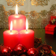 Red candles — Stock Photo #33176427