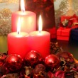 Red candles — Stock Photo #33176965