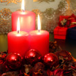 Red candles — Stock Photo #33968539