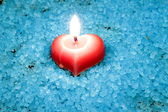 Candle heart — Stockfoto