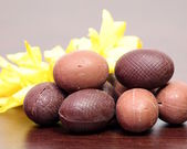 Little chocolate eggs — Stok fotoğraf