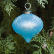 Blue christmas decoration — ストック写真