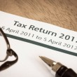 Tax return 2012 — Stock Photo