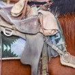 Stock Photo: Western saddle