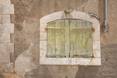 Ancient wooden window — Stock Photo