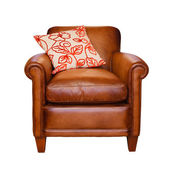 Leather chair isolated — Stock Photo
