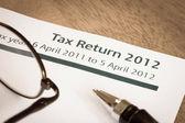 Tax return 2012 — Stock Photo