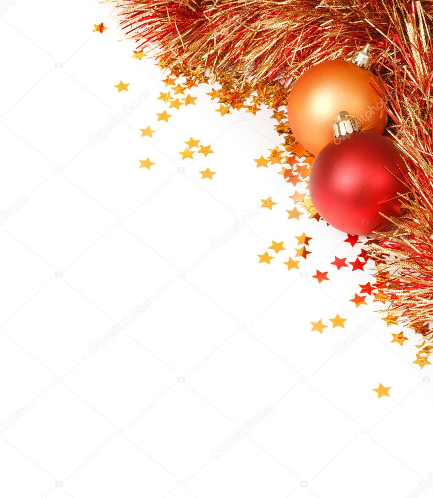 christmas template stock photo copy paulmaguire  christmas template white space surrounded by christmas decorations tinsel and confetti photo by paulmaguire