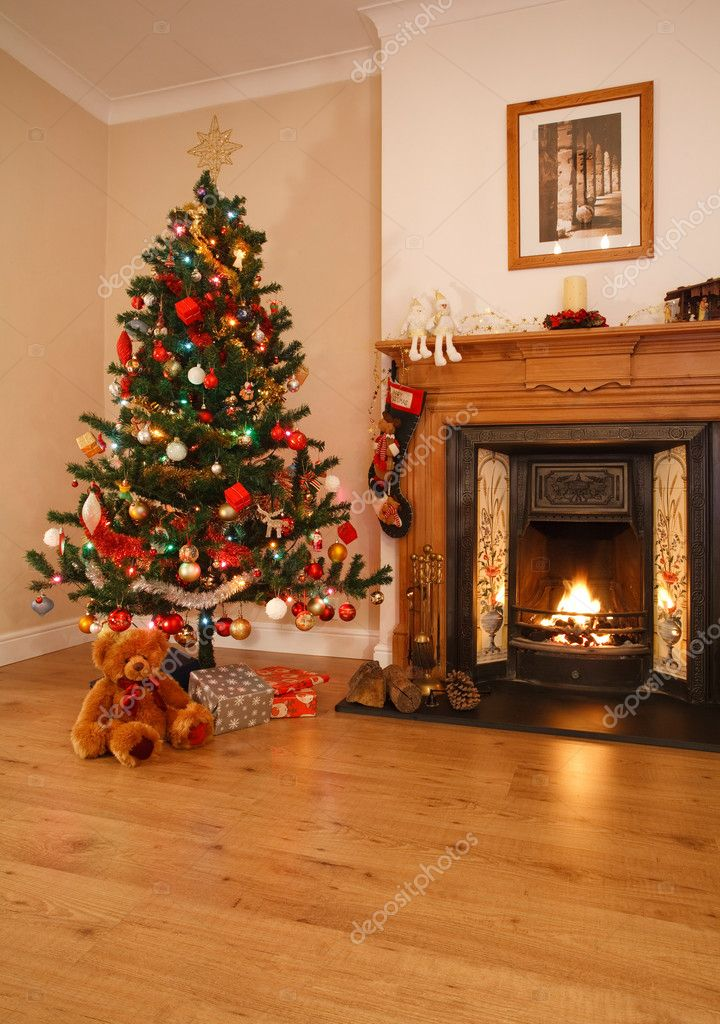Christmas home decor stock photo paulmaguire 13129827 for Living home christmas decorations