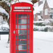 Telephone box in UK — Stock Photo