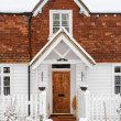 Clapboard house front — Stock Photo