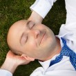 Businessman resting — Stock Photo