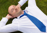 Business man relaxing — Stock Photo