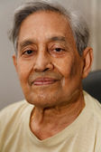 Indian man gray hair — Stock Photo