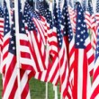 Stars and stripes banner — Stock Photo