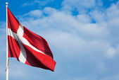 Danish Flag — Stock Photo